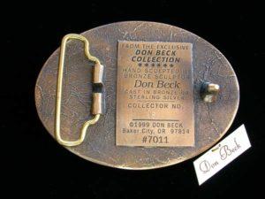 Belt Buckle Back - Bronze Sculpture