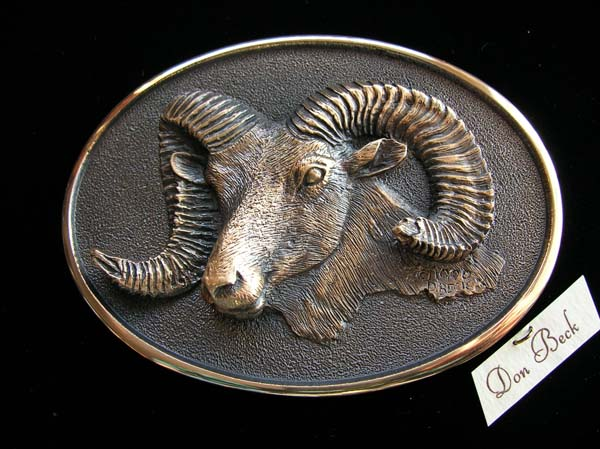 Rocky Mountain Bighorn Sheep bronze sculpture