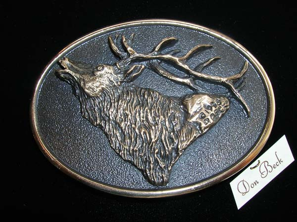 Rocky Mountain Elk bronze sculpture