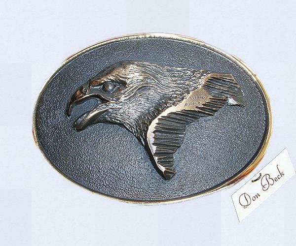 Golden Eagle bronze belt buckle