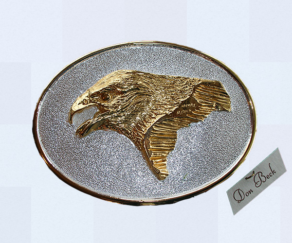 Golden Eagle belt buckle