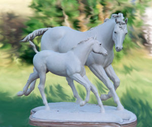 Imprinting - Bronze Sculpture