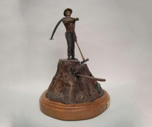 Lumberjack - Bronze Sculpture