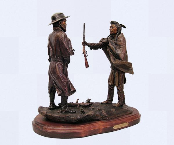 Chief Joseph bronze sculpture