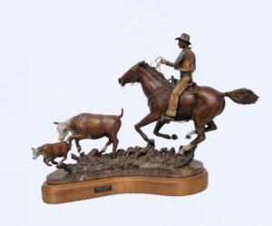 Pressing Ahead - Bronze Sculpture