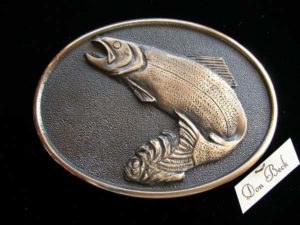 Pacific Northwest Rainbow Trout - Bronze Sculpture