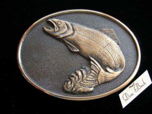 Pacific Northwest Rainbow Trout - Bronze Sculpture
