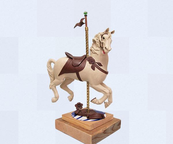Carousel horse bronze sculpture