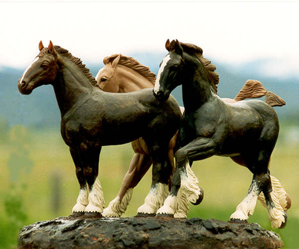 Equine bronze sculpture