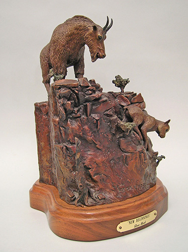 Rocky Mountain Goat bronze sculpture