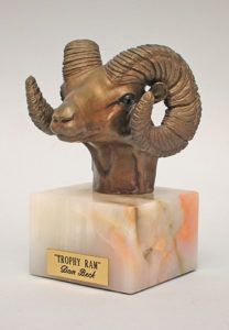 Trophy Ram - Bronze Sculpture