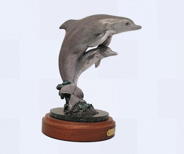 Dolphin bronze sculpture