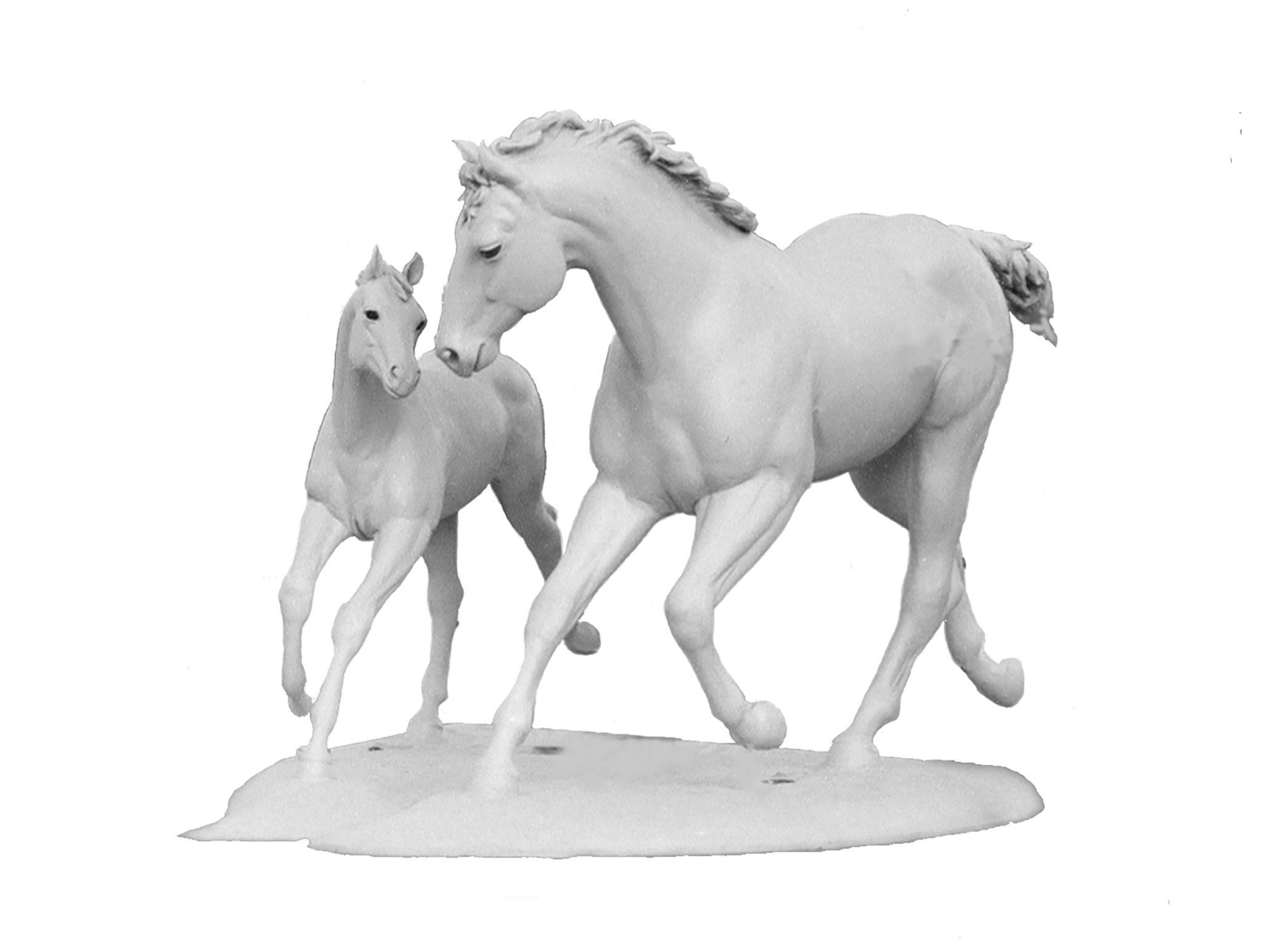 Horse bronze sculpture