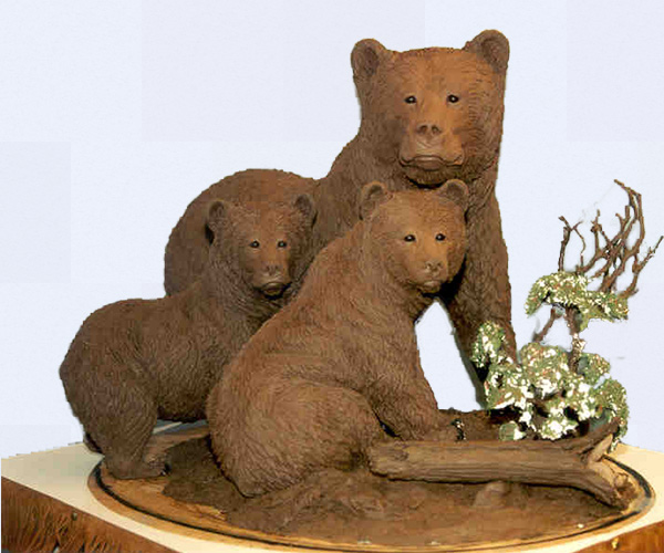 Grizzly Bear bronze sculptures