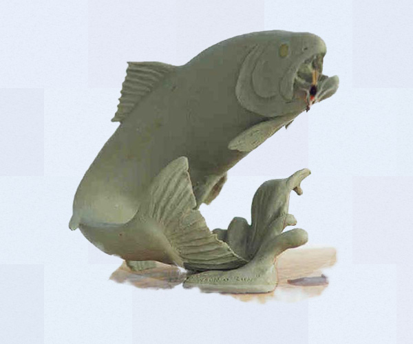 Pacific Northwest steelhead bronze sculpture