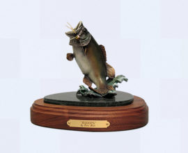 Largemouth Bass bronze sculpture