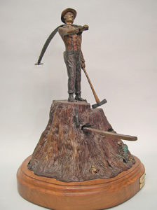Lumberjack - Bronze Sculpture