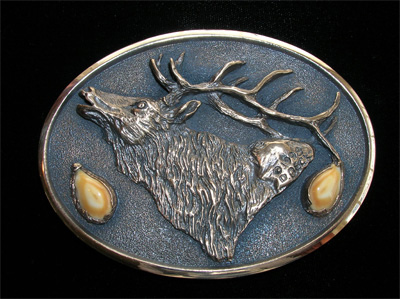 Rocky Mountain Elk bronze with elk ivories