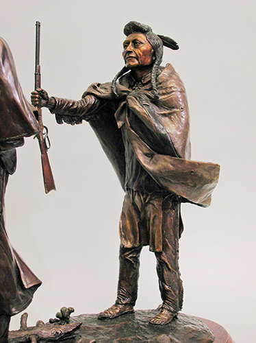 Chief Joseph of the Nez Perce Indians bronze sculpture