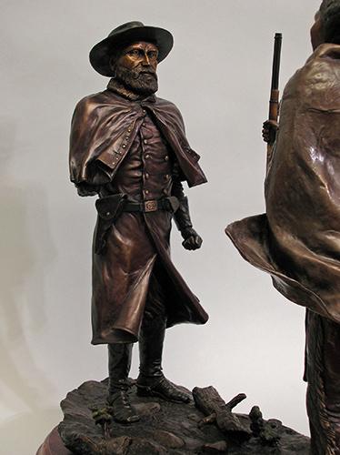Nez Perce Indian Chief Joseph bronze sculpture