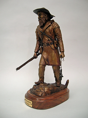 Mountain man bronze sculpture