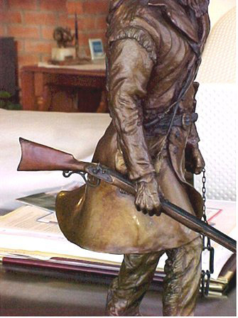 Hawkin Percussion rifle bronze sculpture | www.donbeckbronzes.com