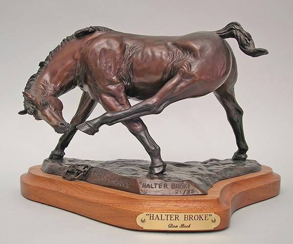 American Quarter Horse bronze sculpture